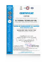 ISO 9001:2008 Certificate for production facilitiy